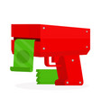 cash machine gun flat cartoon vector image