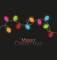christmas colorful lights vector image