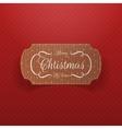 christmas realistic cardboard banner vector image
