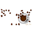coffee cup top view isolated vector image