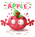 cute apple - cartoon characters vector image vector image