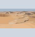 desert sand dunes realistic vector image