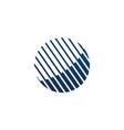 digital technology logo design template vector image vector image