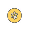 dog trail or paw print colorful icon vector image