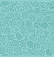 easter seamless pattern with flat line icons of vector image vector image