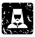 Episcop icon grunge style vector image vector image