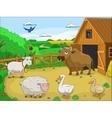 Farm cartoon educational vector image