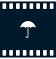 Flat paper cut style icon of umbrella vector image vector image