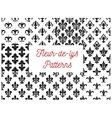 Fleur-de-lys royal french lily seamless patterns vector image vector image