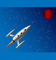 flying rocket to the planet vector image