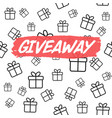 giveaway card template for blogs vector image vector image