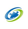 global human resource blue green symbol logo vector image vector image