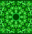 green seamless kaleidoscope pattern background vector image vector image