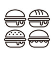 hamburger icon set vector image vector image