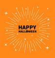 happy halloween black text pumpkin smiling face vector image vector image