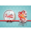 Happy New Year 2015 red celebration background vector image