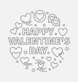 happy valentines day round vector image vector image