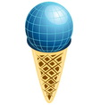 Ice cream earth vector image vector image