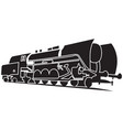 icon with old steam locomotive vector image