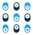 interface colorful icons set collection of people vector image vector image