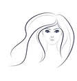 Lineart Girl2 vector image vector image