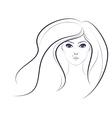 Lineart Girl2 vector image