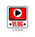 logo for information video channel or vlog vector image vector image