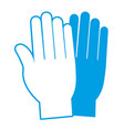 medical gloves icon vector image vector image