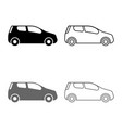 mini car compact shape for travel racing icon set vector image