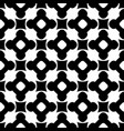 monochrome seamless pattern ornament texture vector image vector image