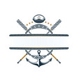 nautical label anchor oar anchor chain captains vector image vector image