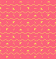 pink geometric pattern vector image vector image