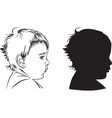 profile baby vector image vector image