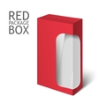 red realistic box Mockup Template vector image vector image
