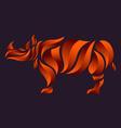 Rhinoceros Logo vector image vector image