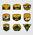 set vintage mountain outdoor adventure logo vector image vector image