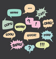 speech bubble colorful set trendy pop art talk vector image vector image