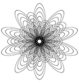 Spirograph flower vector image vector image