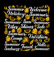 summer calligraphy design vector image vector image