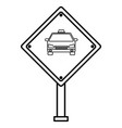 taxi stop traffic signal vector image vector image