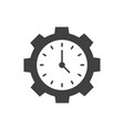 time management black icon on white background vector image vector image