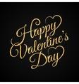 valentine day vintage lettering gold background vector image