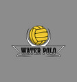 water polo logo for team and cup vector image vector image