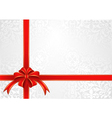 white background with bow for gifts vector image