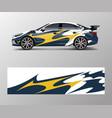 wrap design for custom sport car sport racing car vector image vector image