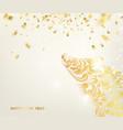 zodiac symbol with curves ribbon confetti vector image