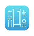 Bathroom line icon vector image