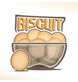 logo for biscuit vector image