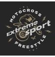 Motocross extreme sport vector image