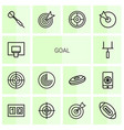 14 goal icons vector image vector image
